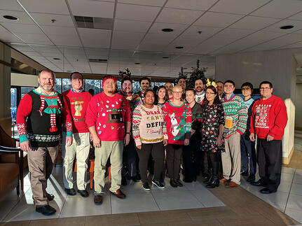 Ugly Sweater Group Photo